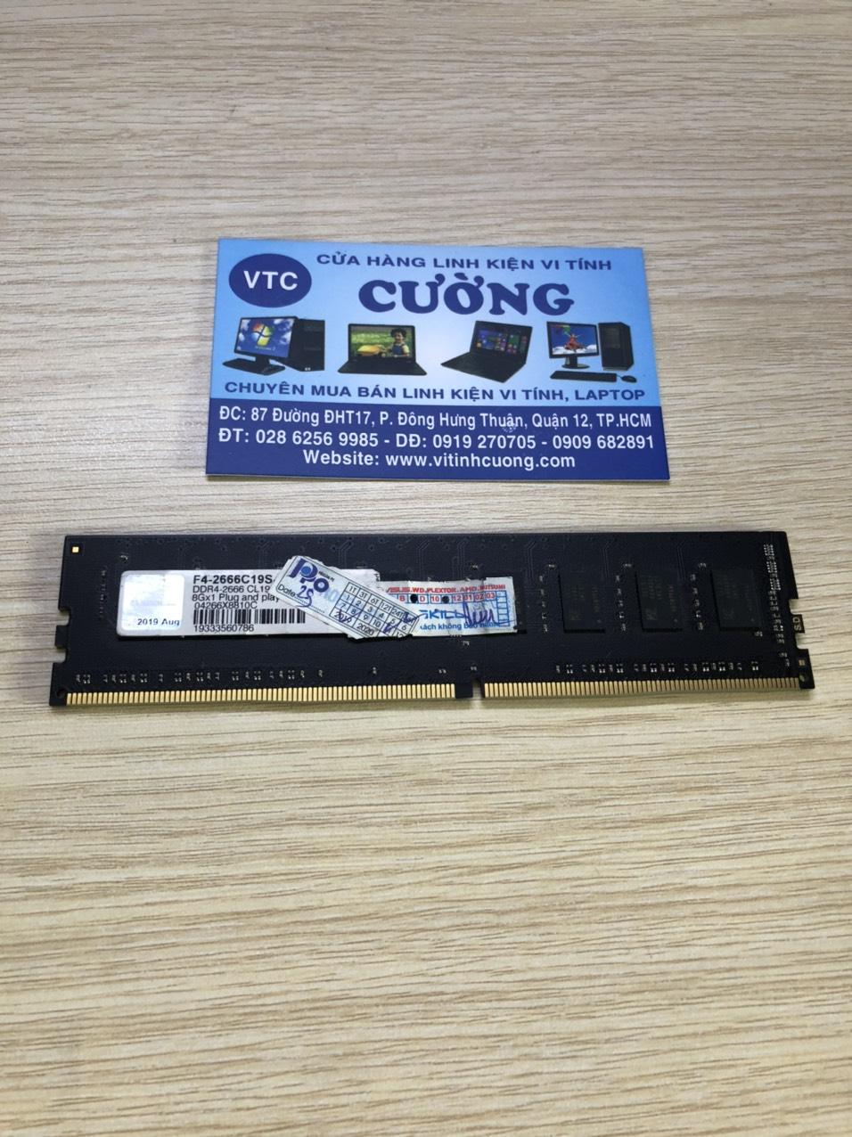RAM Gskill DDR4 8GB buss 2666MHz