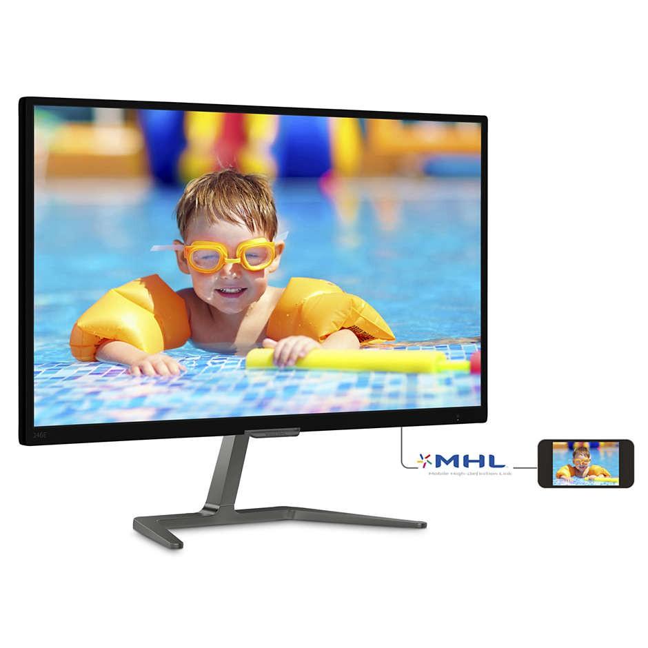 Màn hình LCD 24inch Philips 246E7QDSB/00 Ultra Wide-Color PLS Chính Hãng