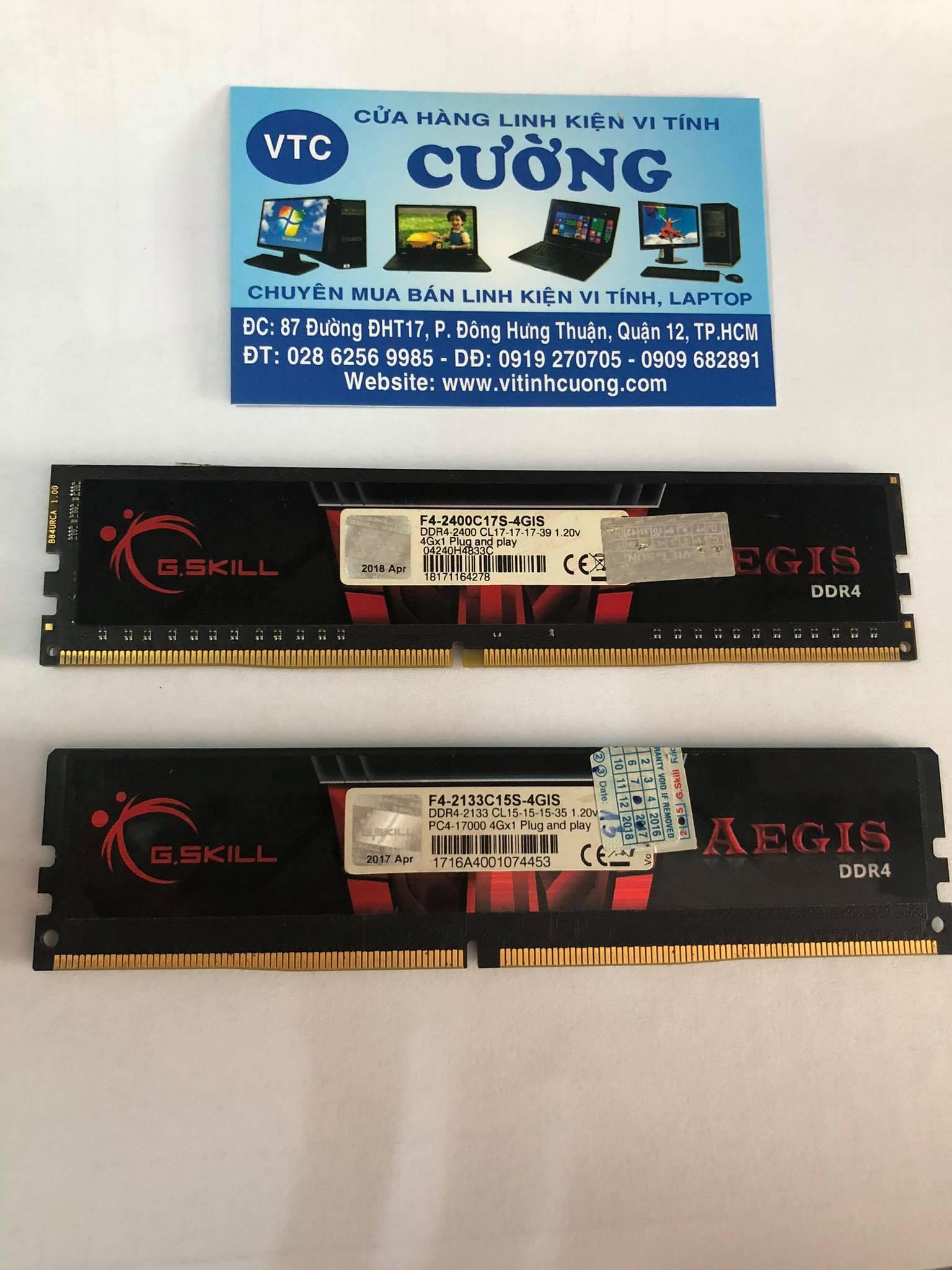 Ram GSKILL AEGIS DDR4 4Gb Bus 2133