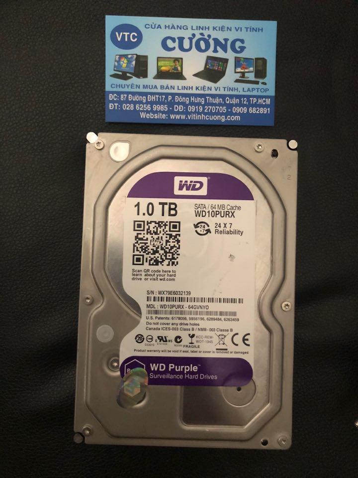 Ổ cứng HDD Western Tím 1TB SATA3 7200rpm