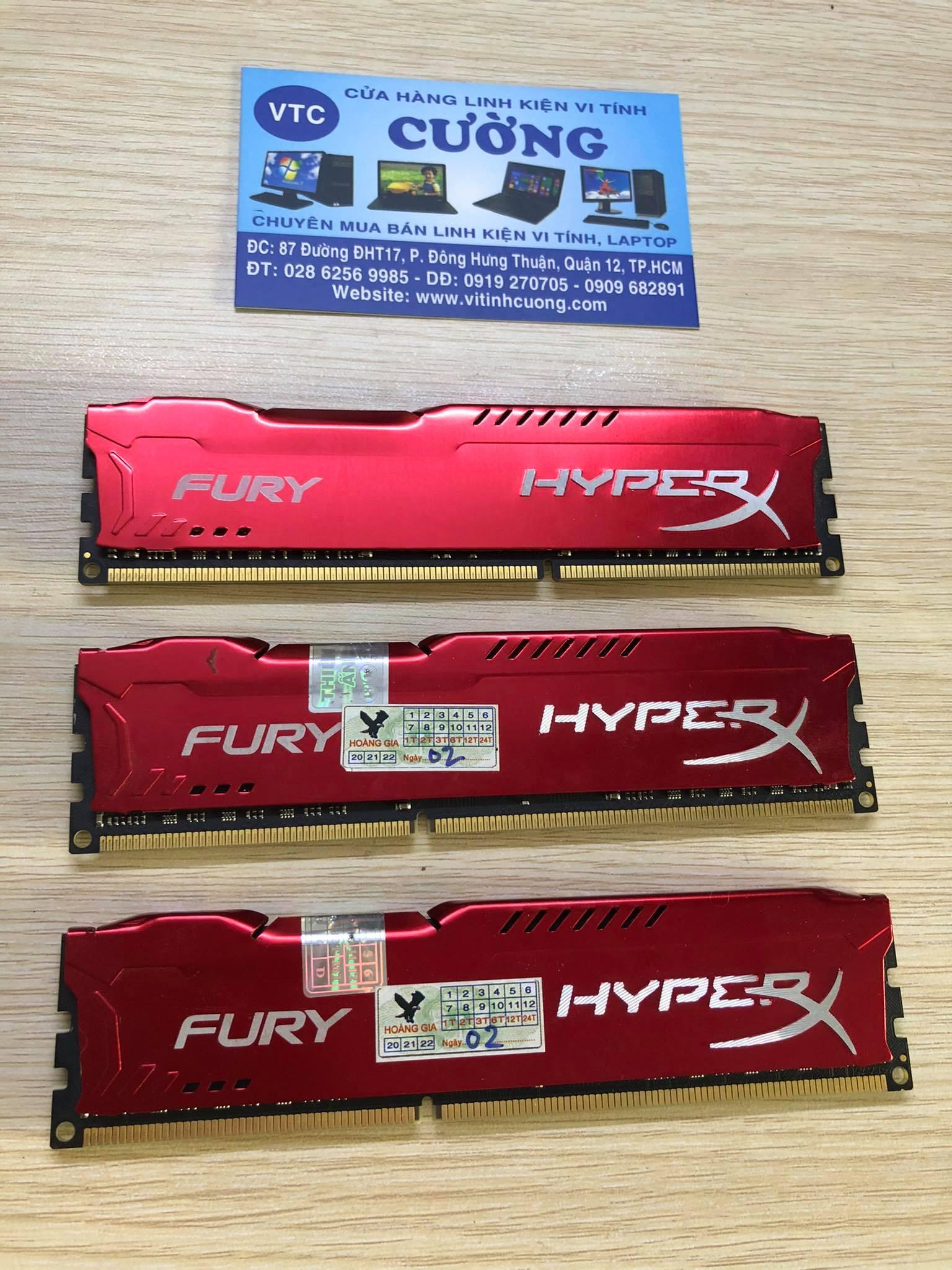Ram DDR3 8GB HyperX Bus 1600Mhz tản nhiệt
