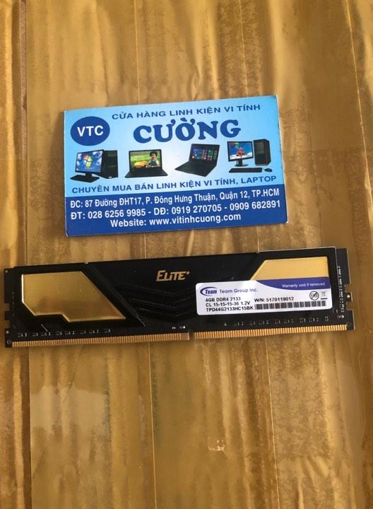 Ram TEAM ELITE 4GB DDR4 2133MHz BH 2022