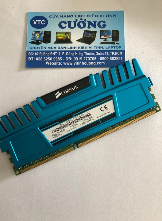 RAM Corsair VENGEANCE DDR3 4GB Bus 1600Mhz